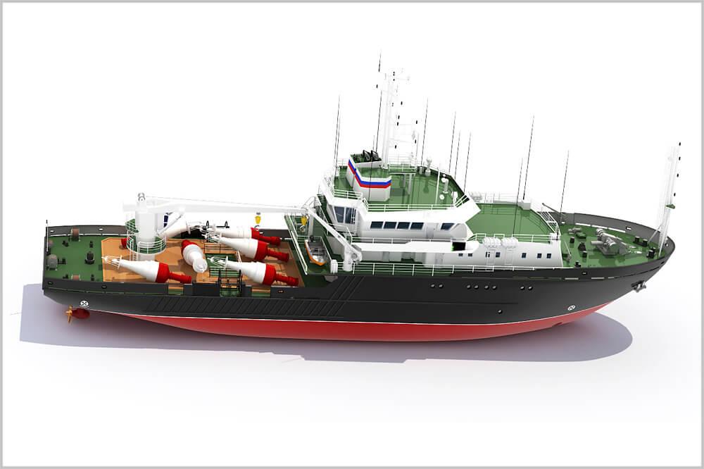 Малое гидрографическое судно проекта 19910